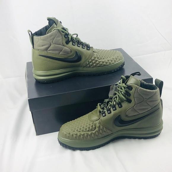 Nike Lunar Force 1 Duckboot 17 Olive Moyen LF1 NWT